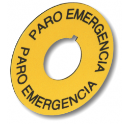PLACA DE EMERGENCIA AMARILLA 59mm.