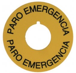 PLACA DE EMERGENCIA AMARILLA 78mm.