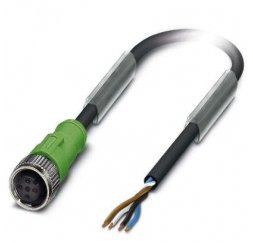 CONECTOR M12 4P CABLE 5 MTS RECTO