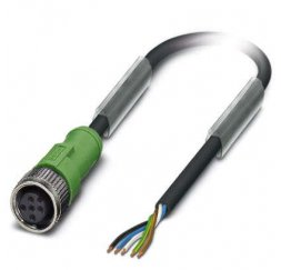 CONECTOR M12 5P CABLE 5 MTS RECTO
